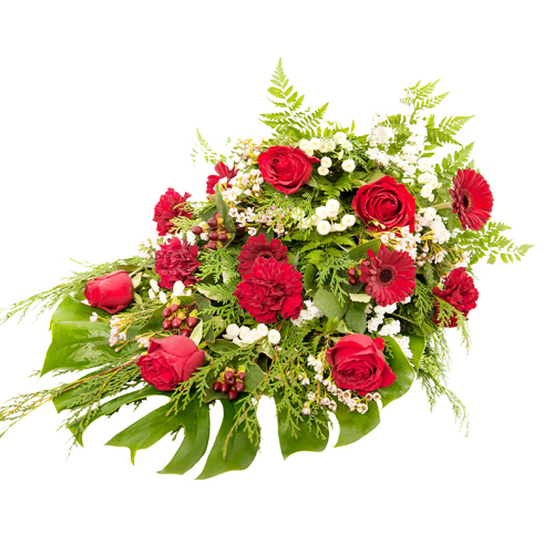 Bårebuket med roser